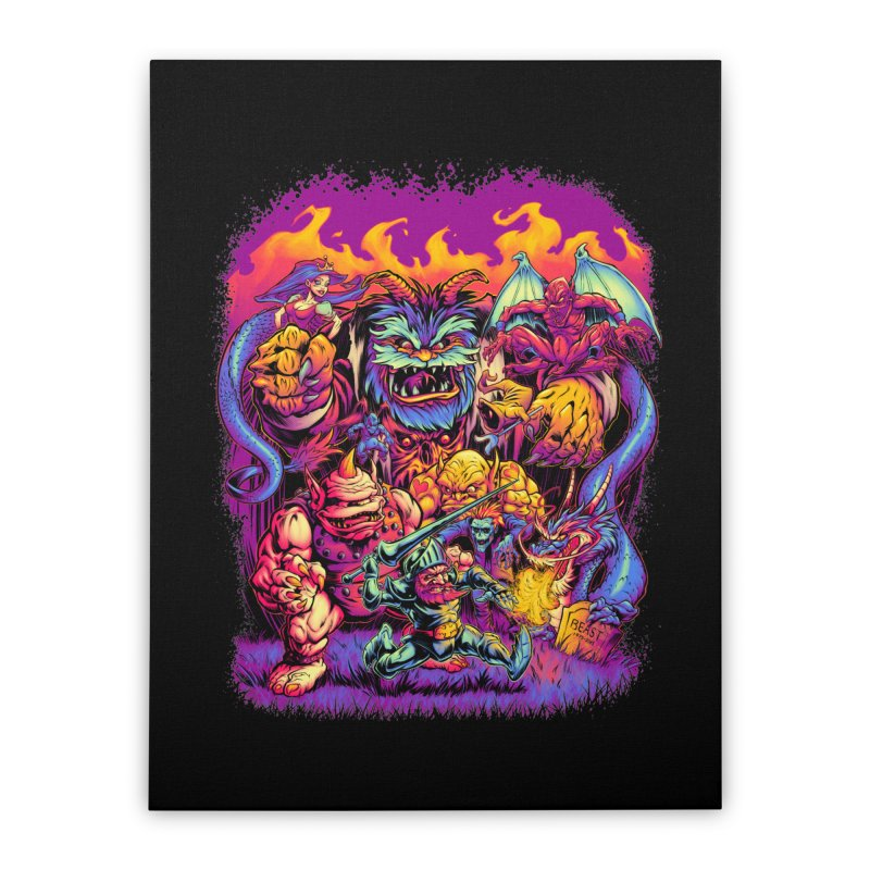 GHOSTS 'N' GOBLINS Home Stretched Canvas by Beastwreck
