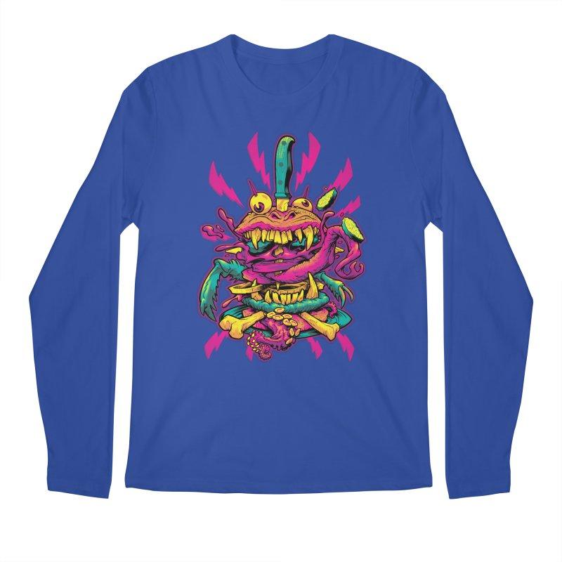 Beast Burger Men's Longsleeve T-Shirt by Beastwreck