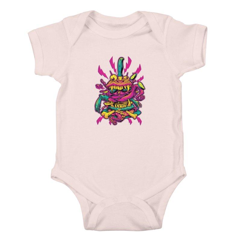 Beast Burger Kids Baby Bodysuit by Beastwreck