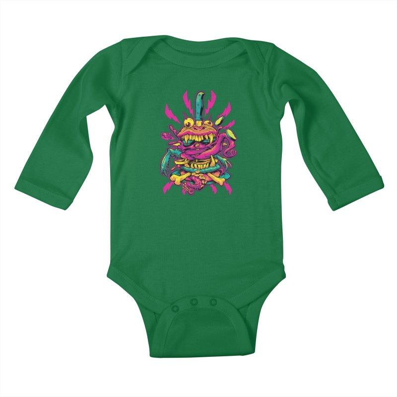 Beast Burger Kids Baby Longsleeve Bodysuit by Beastwreck