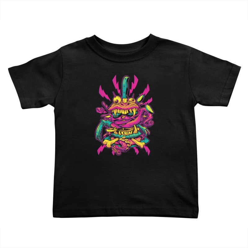 Beast Burger Kids Toddler T-Shirt by Beastwreck