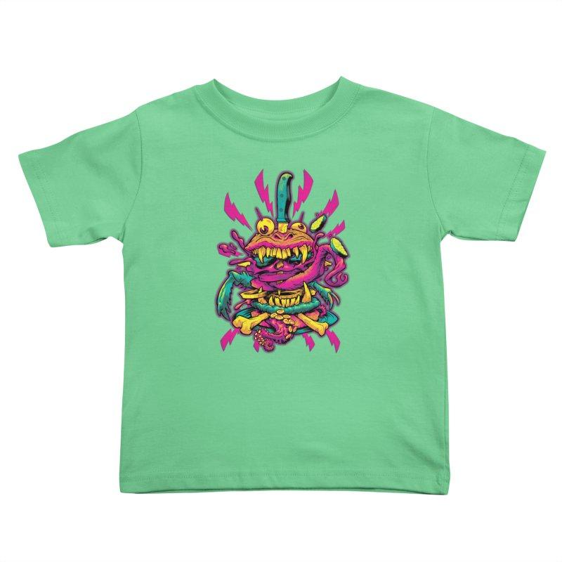 Beast Burger Kids Toddler T-Shirt by Beastwreck