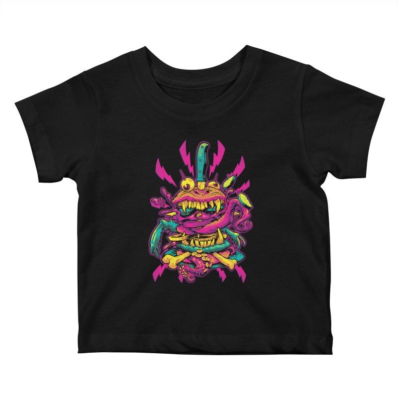 Beast Burger Kids Baby T-Shirt by Beastwreck