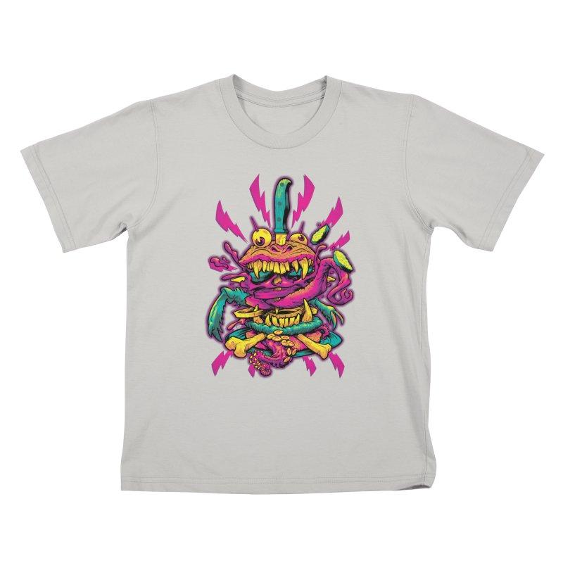 Beast Burger Kids T-Shirt by Beastwreck
