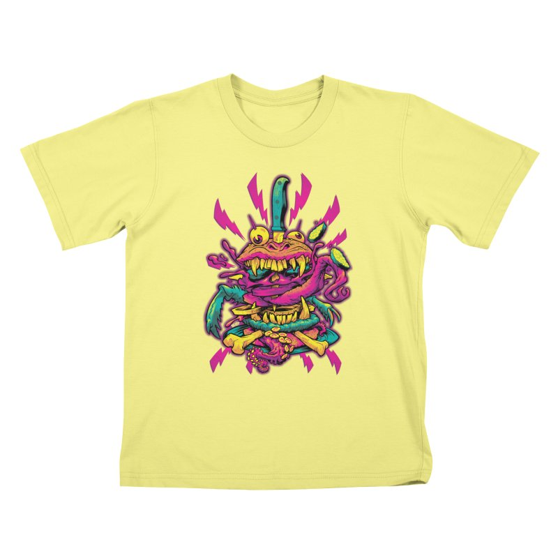 Beast Burger Kids T-shirt by Beastwreck