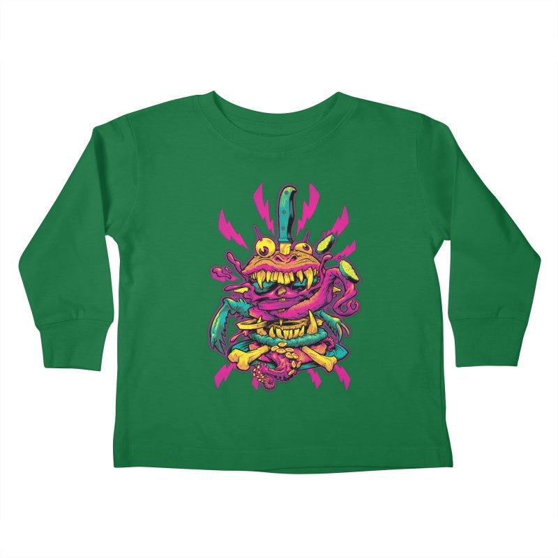 Beast Burger Kids Toddler Longsleeve T-Shirt by Beastwreck