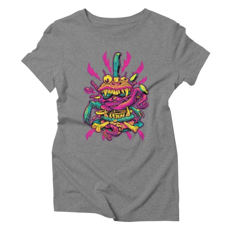 Beast Burger Women's Triblend T-Shirt by Beastwreck