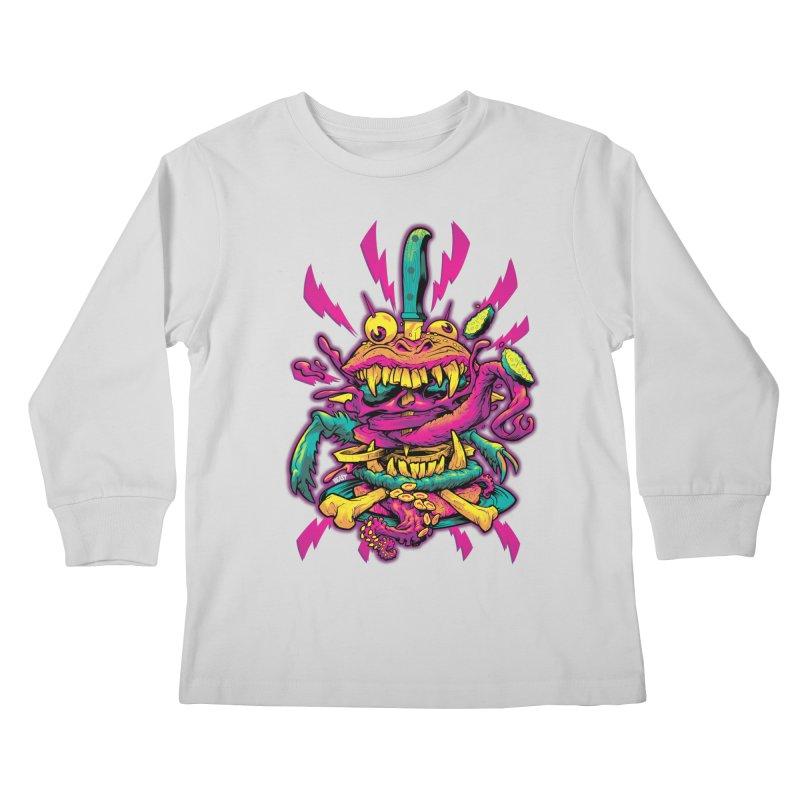 Beast Burger Kids Longsleeve T-Shirt by Beastwreck
