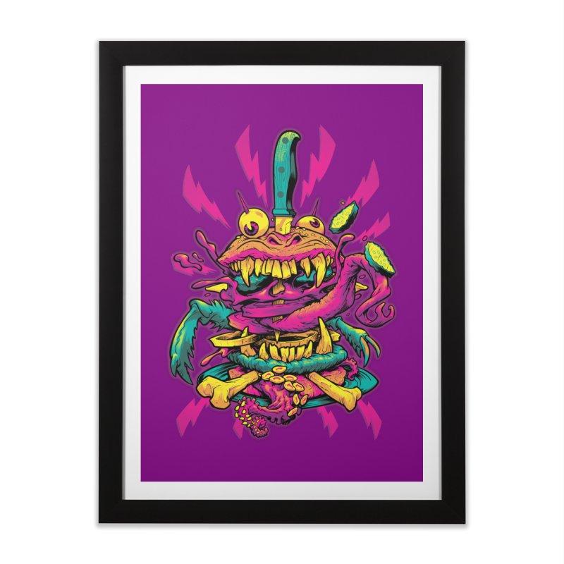 Beast Burger Home Framed Fine Art Print by Beastwreck