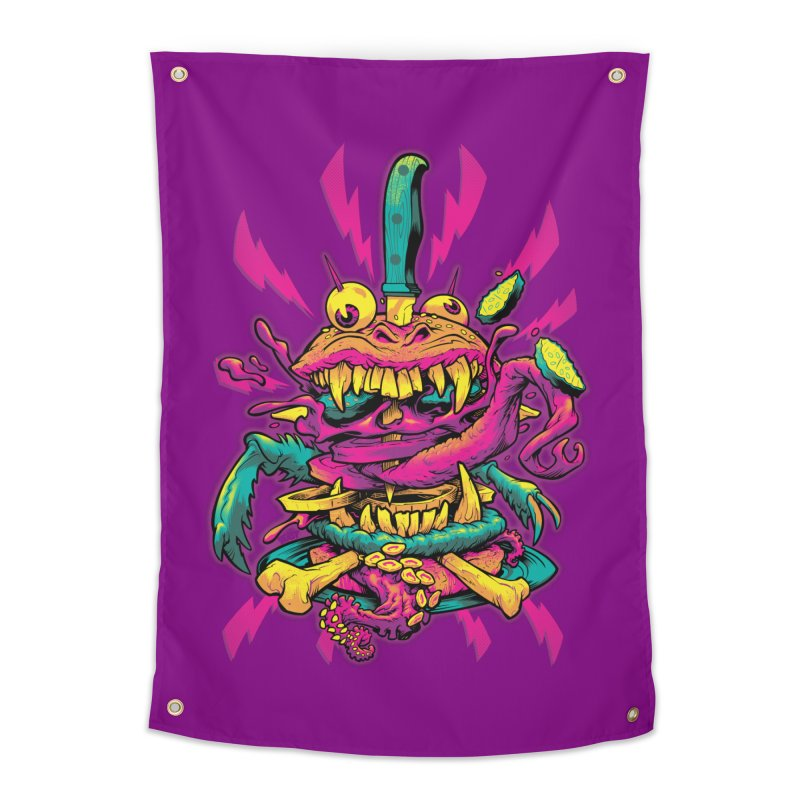 Beast Burger Home Tapestry by Beastwreck