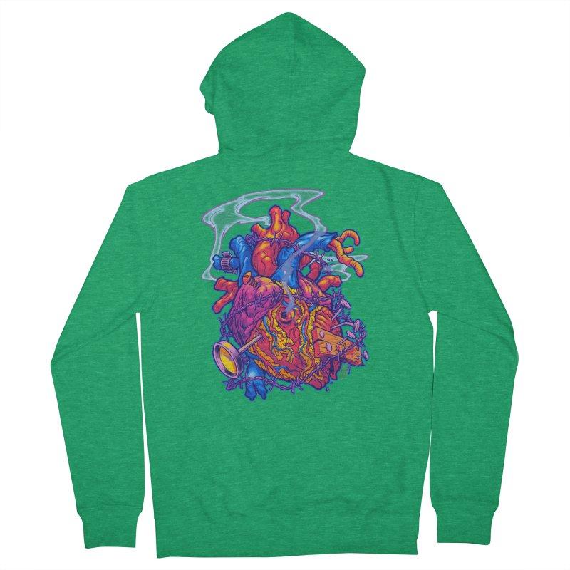Beast Heart Men's Zip-Up Hoody by Beastwreck