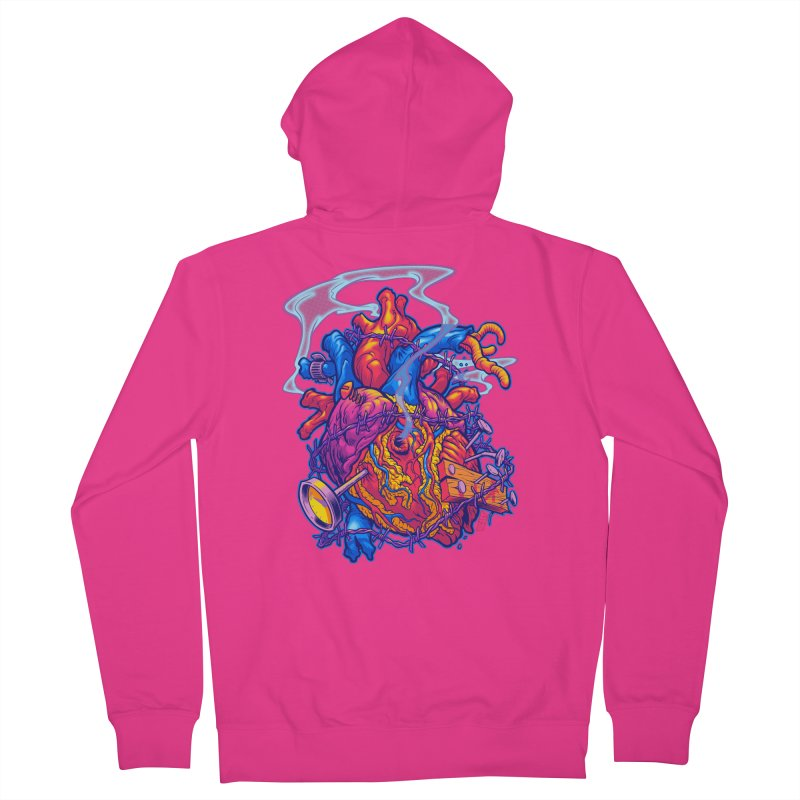Beast Heart Men's Zip-Up Hoody by Beastwreck