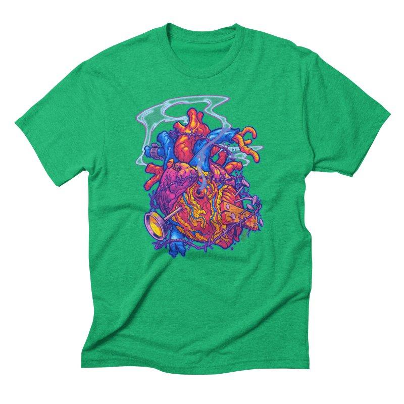 Beast Heart Men's Triblend T-Shirt by Beastwreck