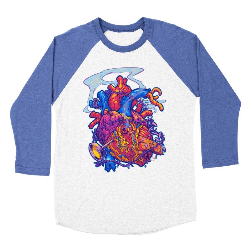 Beast Heart Women's Baseball Triblend T-Shirt by Beastwreck