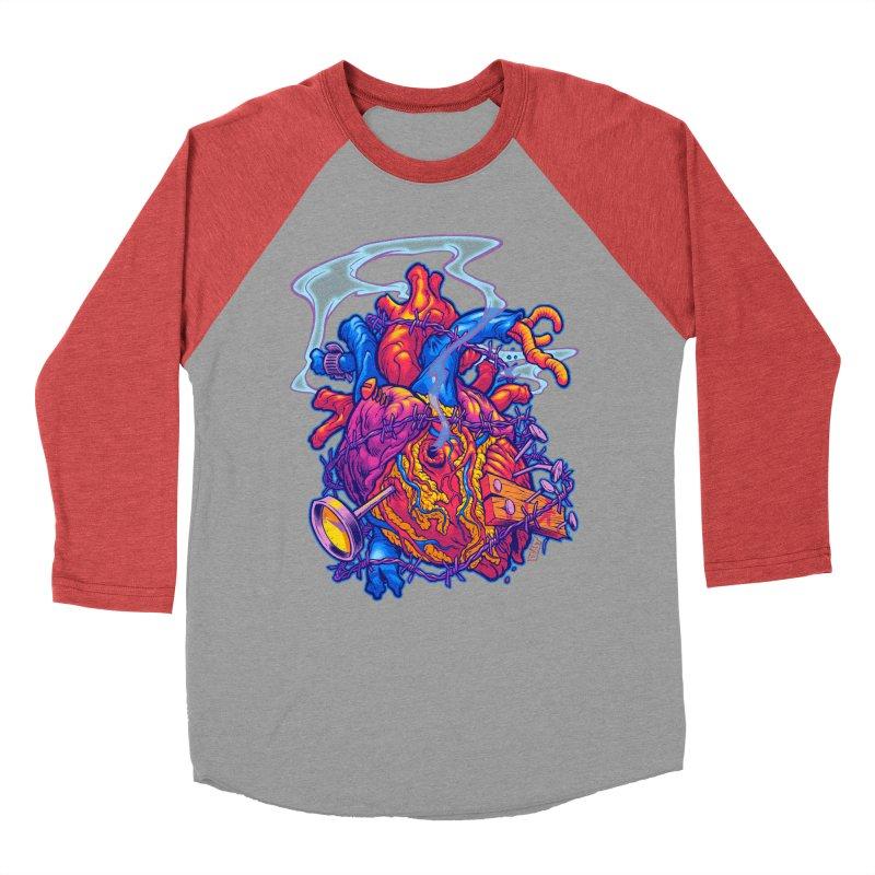 Beast Heart Men's Baseball Triblend T-Shirt by Beastwreck