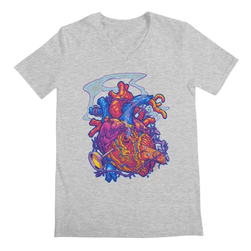 Beast Heart Men's V-Neck by Beastwreck