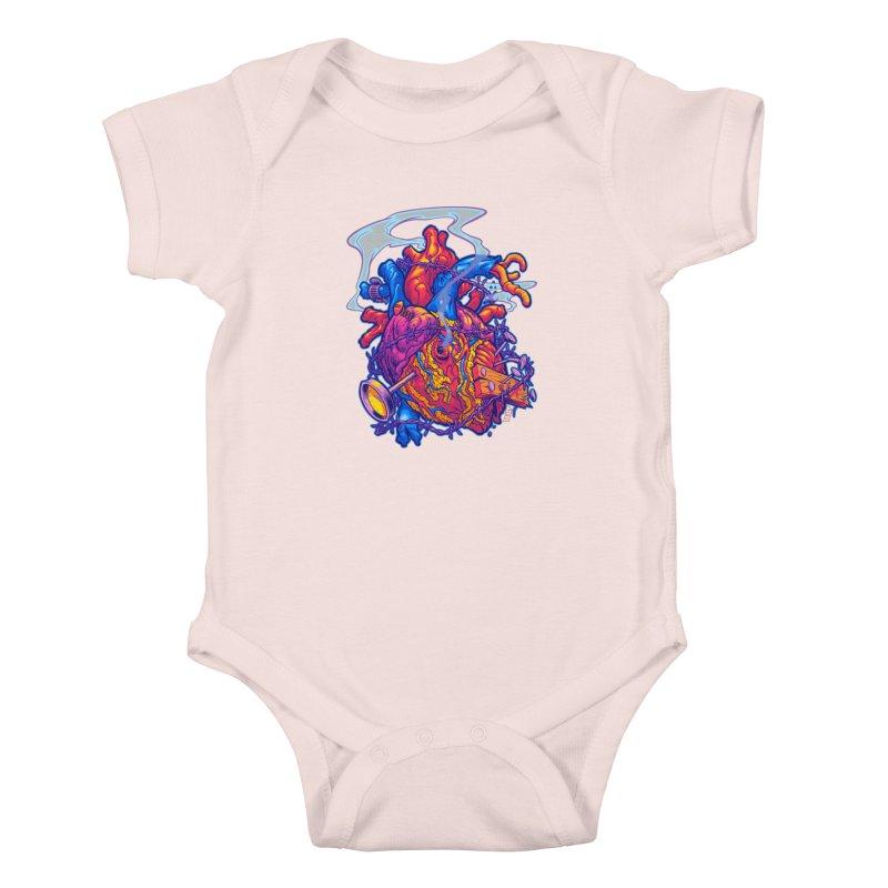 Beast Heart Kids Baby Bodysuit by Beastwreck