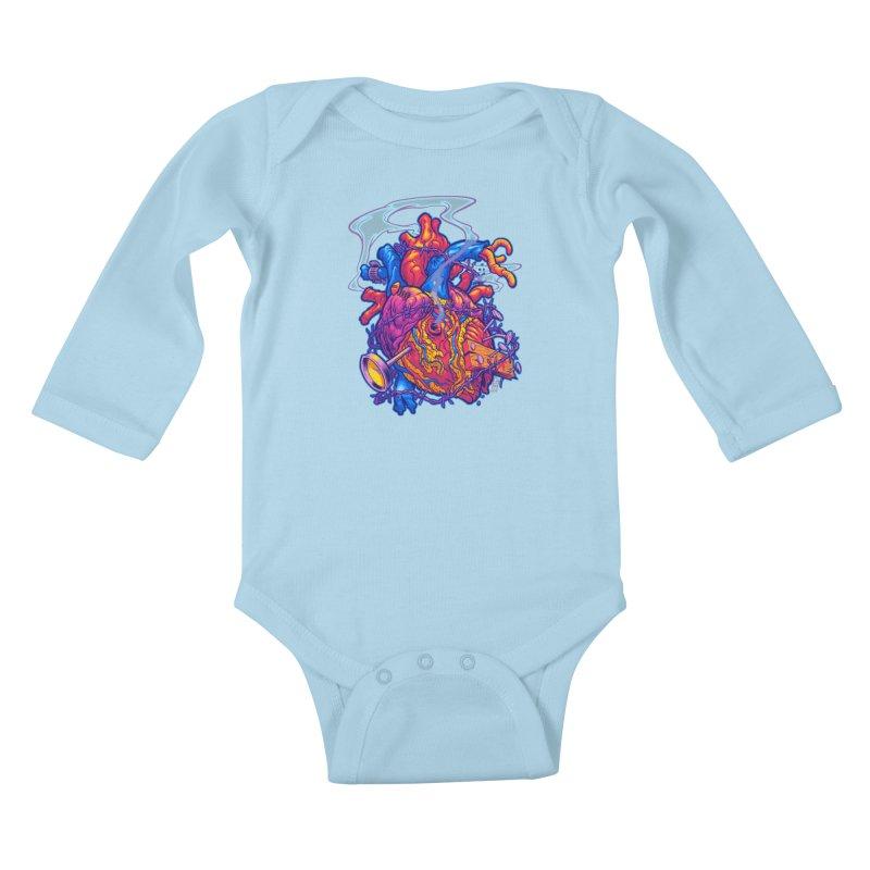 Beast Heart Kids Baby Longsleeve Bodysuit by Beastwreck