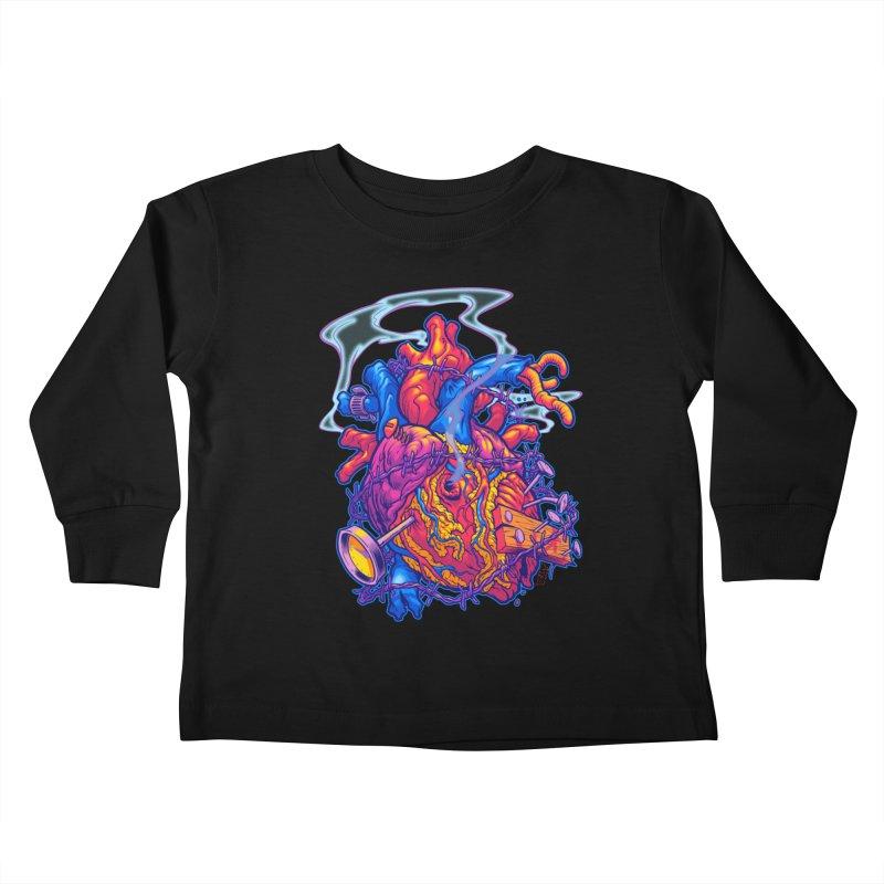 Beast Heart Kids Toddler Longsleeve T-Shirt by Beastwreck