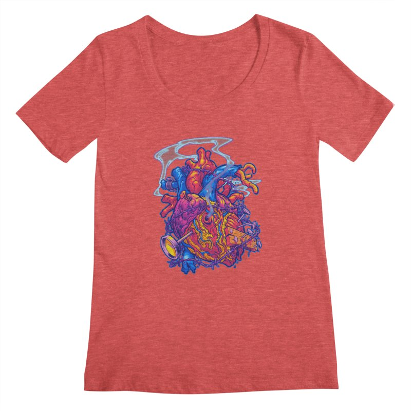 Beast Heart Women's Scoopneck by Beastwreck