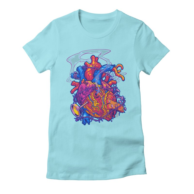 Beast Heart Women's Fitted T-Shirt by Beastwreck