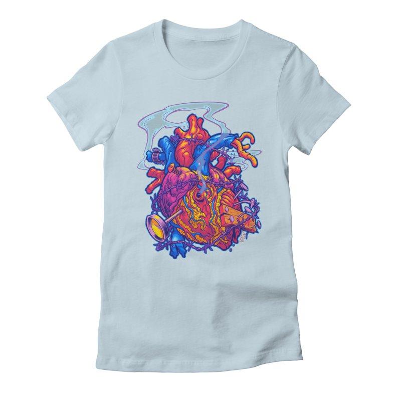Beast Heart Women's Fitted T-Shirt by Beastwreck