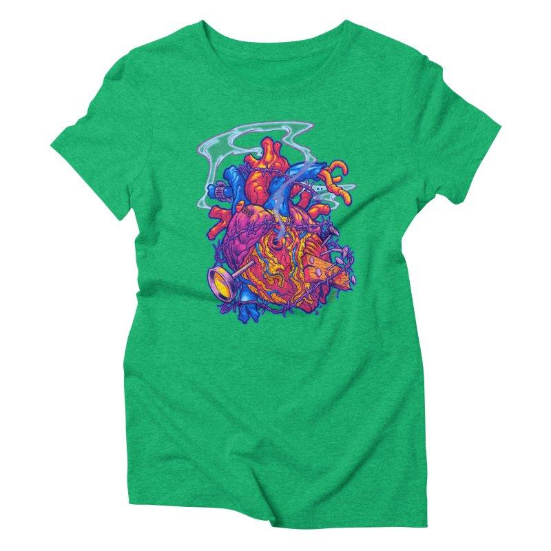 Beast Heart Women's Triblend T-shirt by Beastwreck