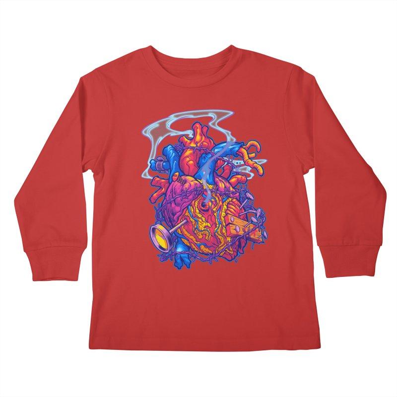 Beast Heart Kids Longsleeve T-Shirt by Beastwreck