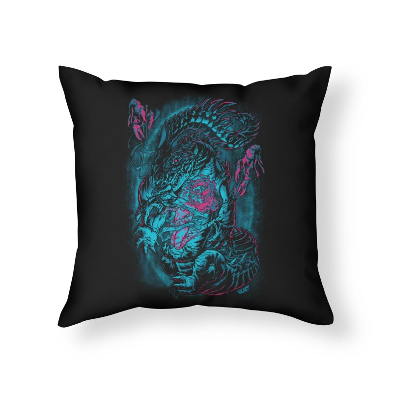Croc-Lord Home Throw Pillow by Beastwreck