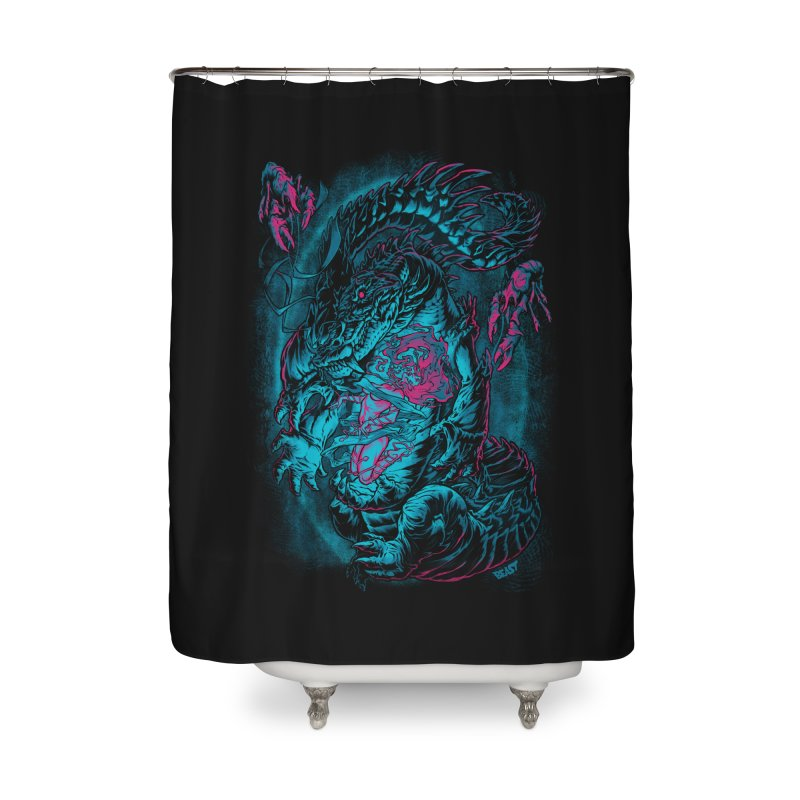 Croc-Lord Home Shower Curtain by Beastwreck