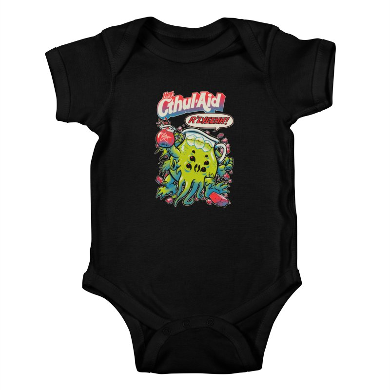 CTHUL-AID  Kids Baby Bodysuit by Beastwreck