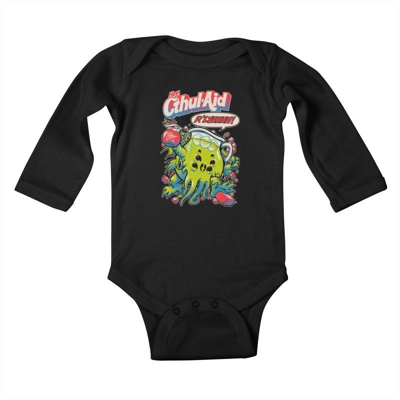 CTHUL-AID  Kids Baby Longsleeve Bodysuit by Beastwreck