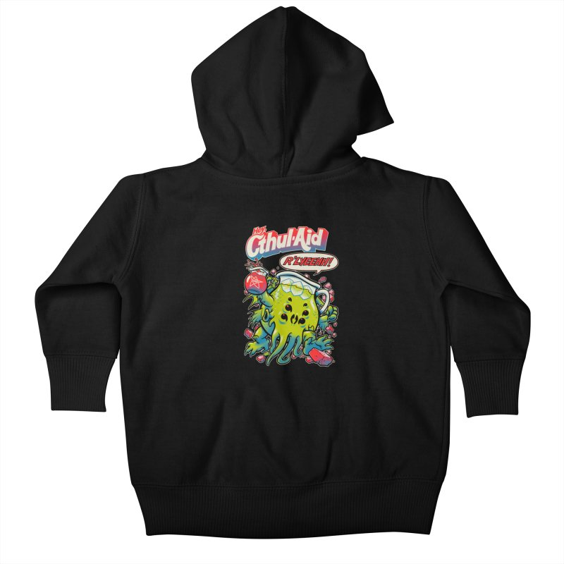 CTHUL-AID  Kids Baby Zip-Up Hoody by Beastwreck