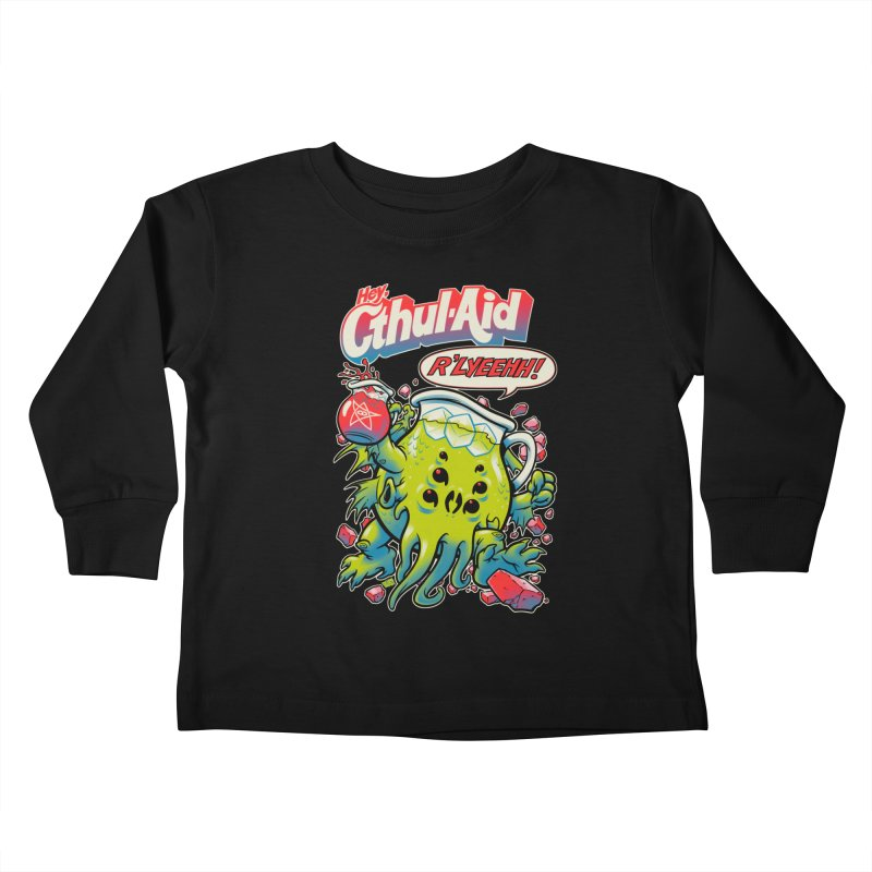 CTHUL-AID  Kids Toddler Longsleeve T-Shirt by Beastwreck