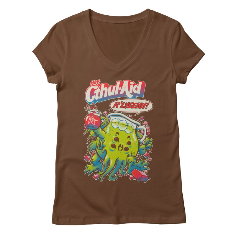 CTHUL-AID  Women's V-Neck by Beastwreck