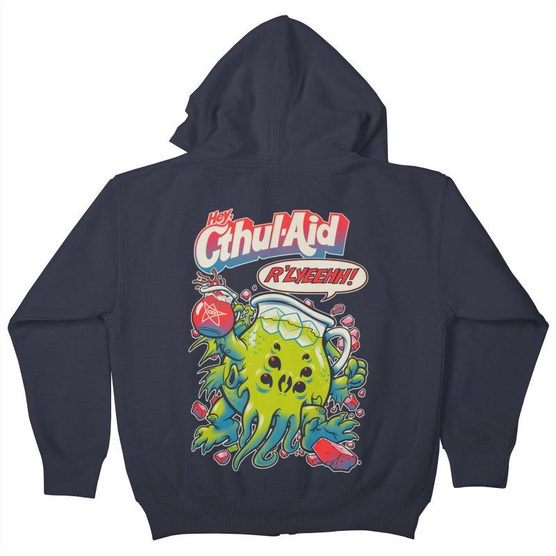 CTHUL-AID  Kids Zip-Up Hoody by Beastwreck