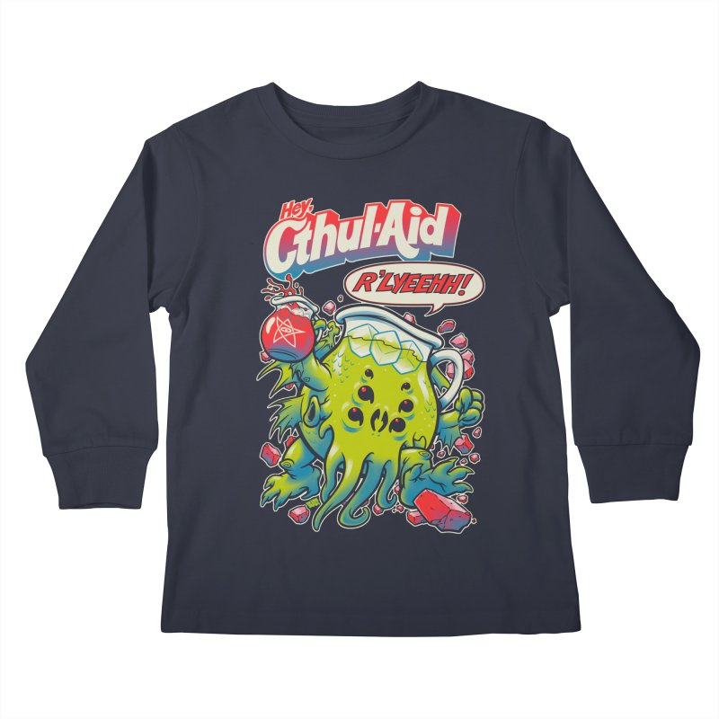 CTHUL-AID  Kids Longsleeve T-Shirt by Beastwreck