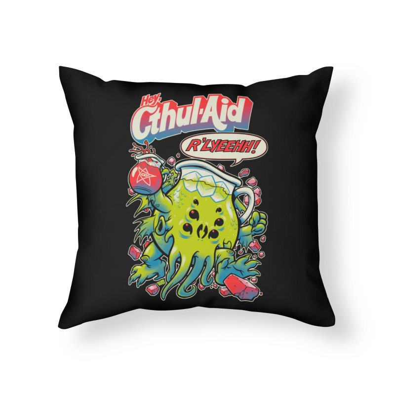 CTHUL-AID  Home Throw Pillow by Beastwreck