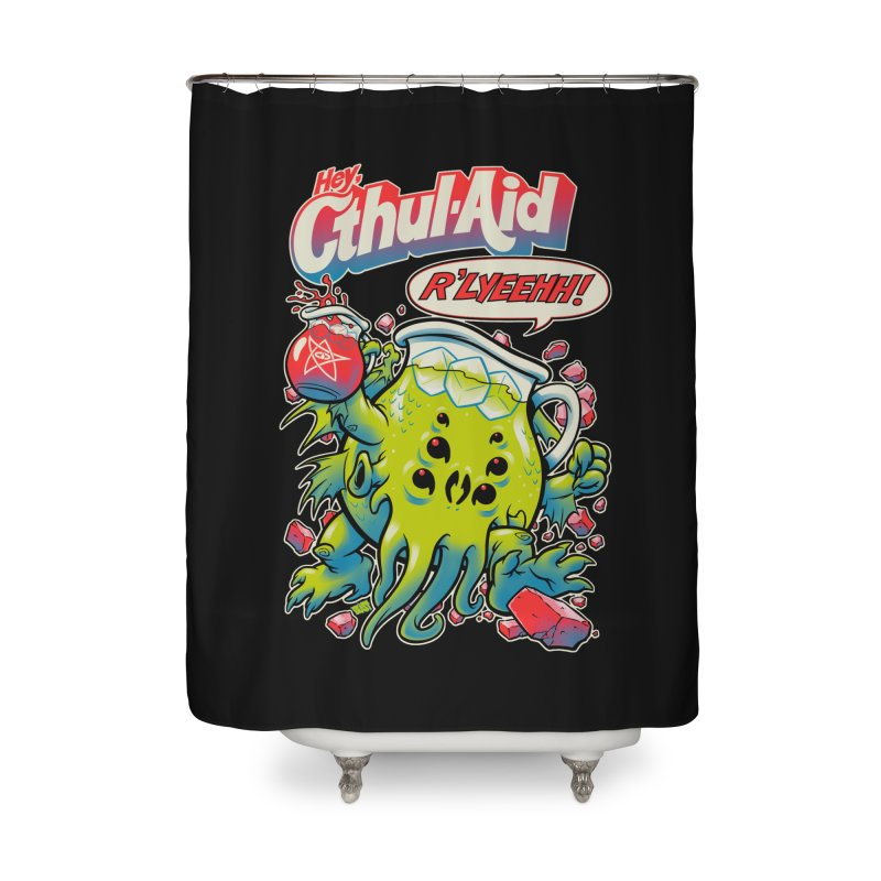 CTHUL-AID  Home Shower Curtain by Beastwreck