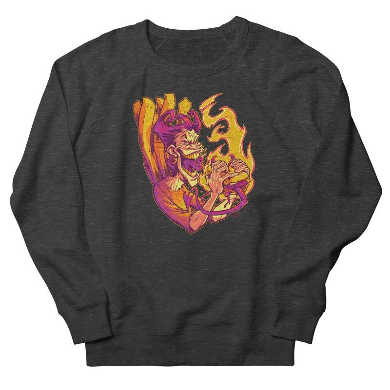 EVIL BOYS EATING EVIL HAMBURGERS Women's Sweatshirt by Beastwreck