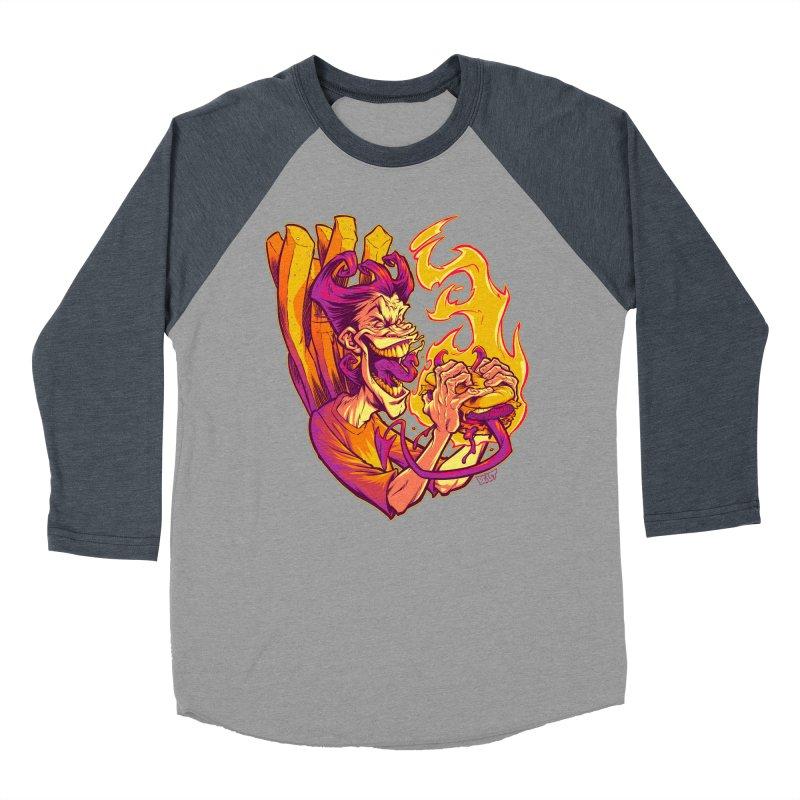 EVIL BOYS EATING EVIL HAMBURGERS Women's Baseball Triblend T-Shirt by Beastwreck