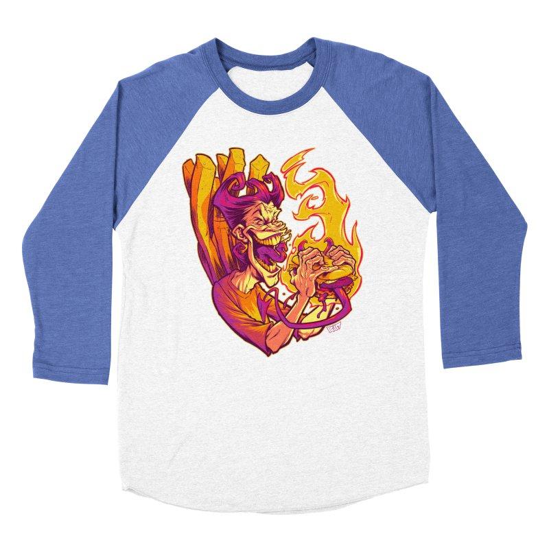 EVIL BOYS EATING EVIL HAMBURGERS Men's Baseball Triblend T-Shirt by Beastwreck