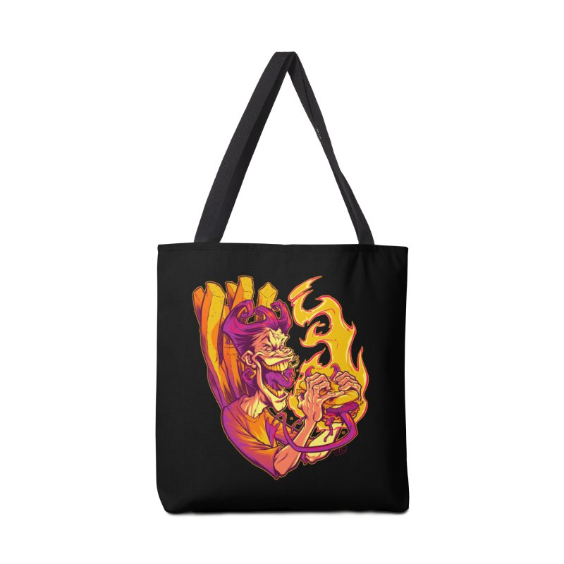 EVIL BOYS EATING EVIL HAMBURGERS Accessories Bag by Beastwreck