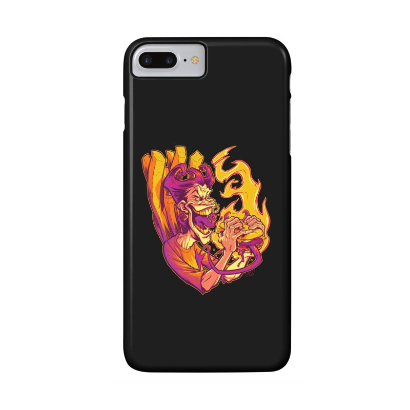 EVIL BOYS EATING EVIL HAMBURGERS Accessories Phone Case by Beastwreck