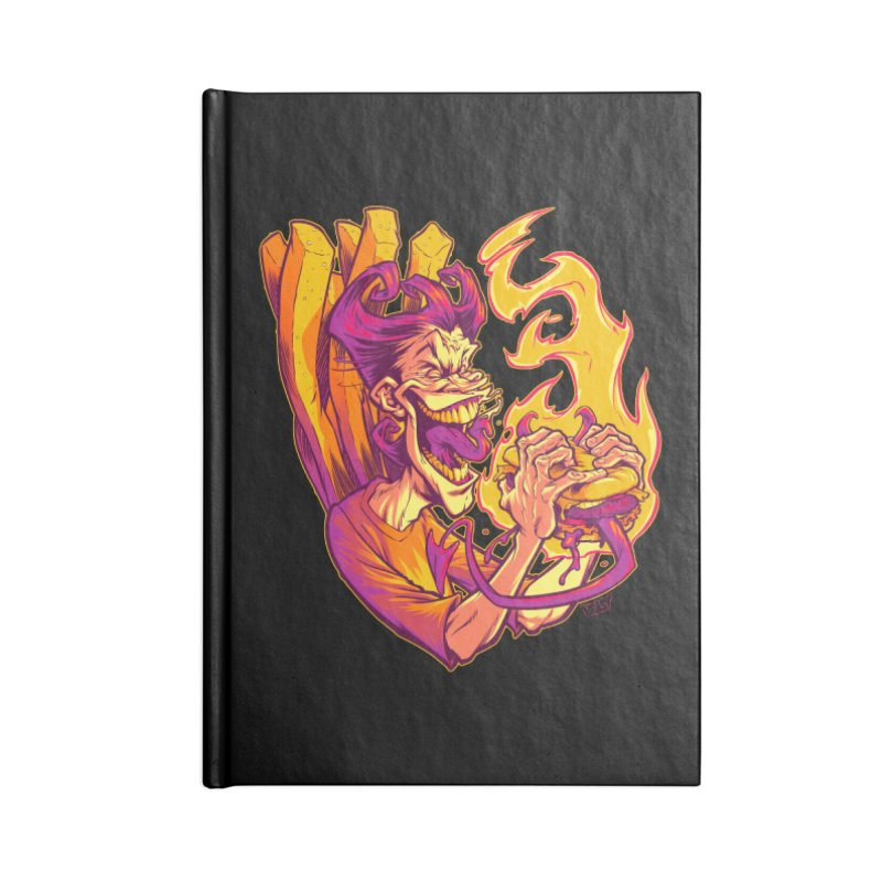 EVIL BOYS EATING EVIL HAMBURGERS Accessories Notebook by Beastwreck