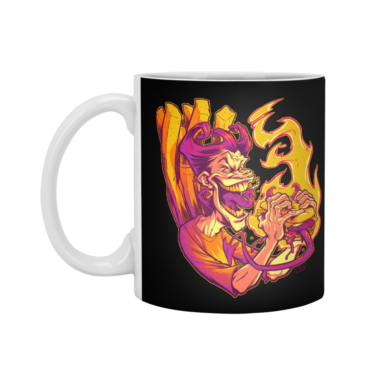 EVIL BOYS EATING EVIL HAMBURGERS Accessories Mug by Beastwreck