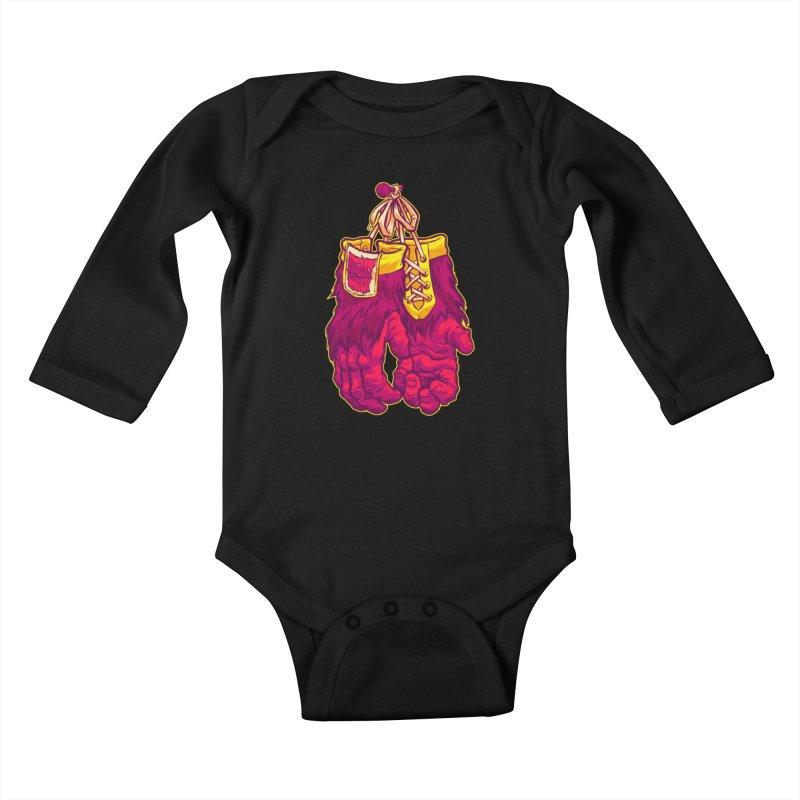 GORILLA GLOVES Kids Baby Longsleeve Bodysuit by Beastwreck