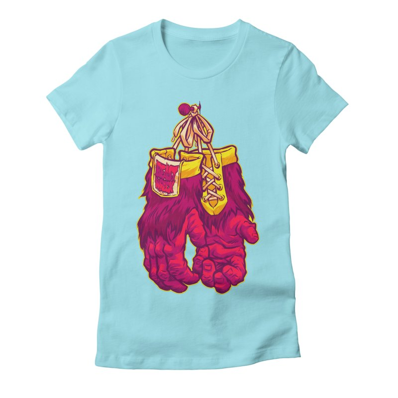 GORILLA GLOVES Women's Fitted T-Shirt by Beastwreck