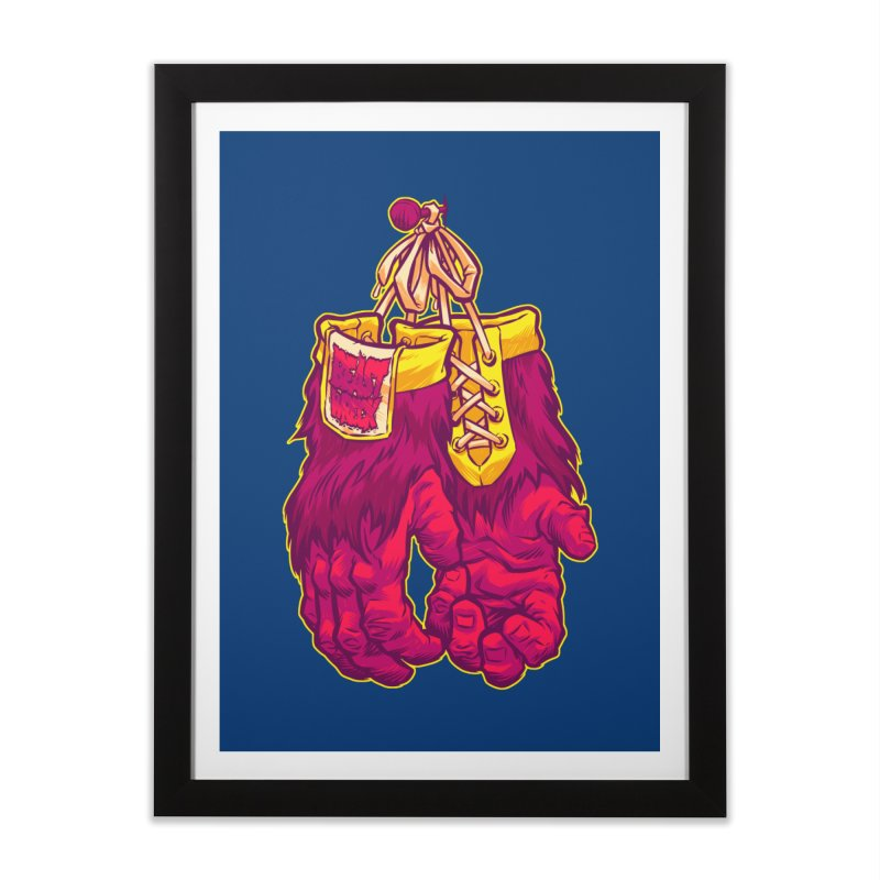 GORILLA GLOVES Home Framed Fine Art Print by Beastwreck