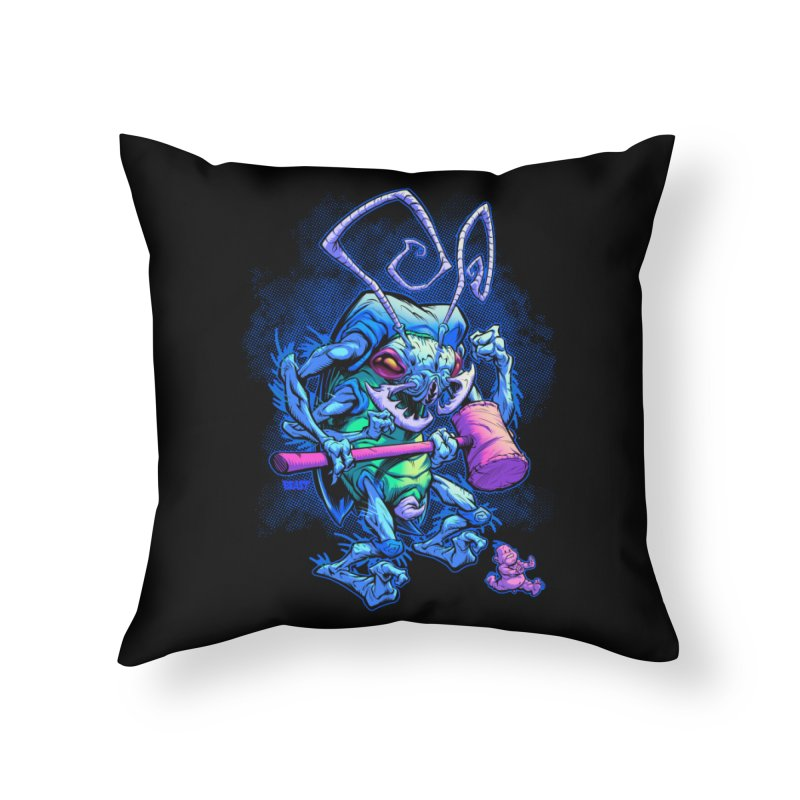 HAMMERBUG Home Throw Pillow by Beastwreck